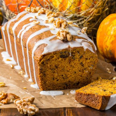 Pumpkin Walnut Banana Bread