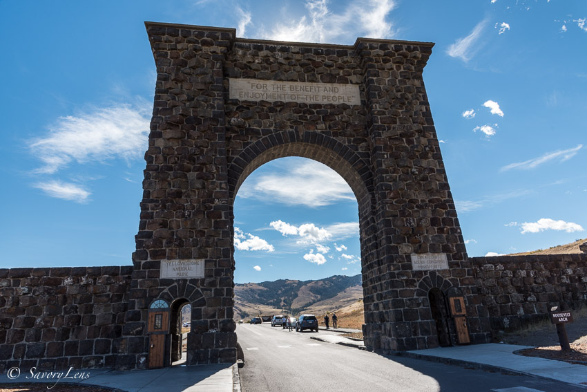 The Roosevelt Arch, Yellowstone North Entrance