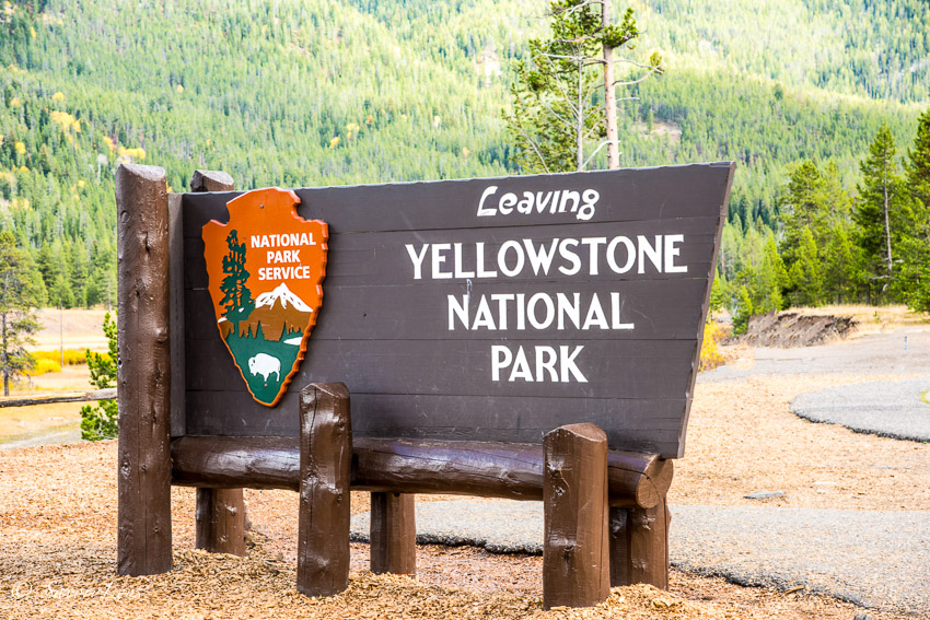 Leaving Yellowstone National Park