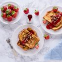 Strawberry Pain Perdu with Pecan Crumble