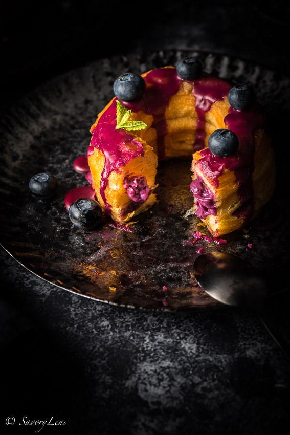 Blueberry Cream Cronuts