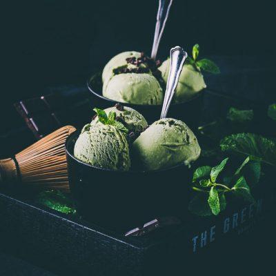 Matcha-Minze-Eis