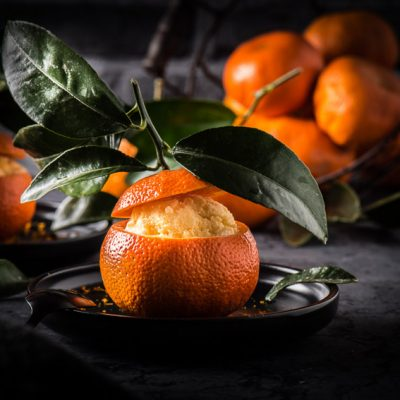 Gelato al Mandarino – Mandarineneis mit Amaretto