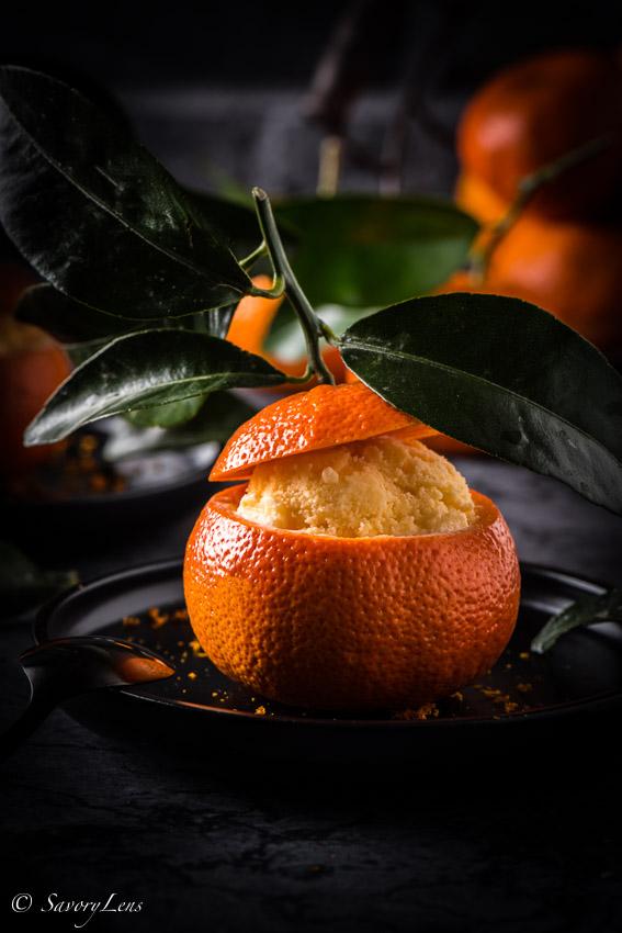Gelato al mandarino