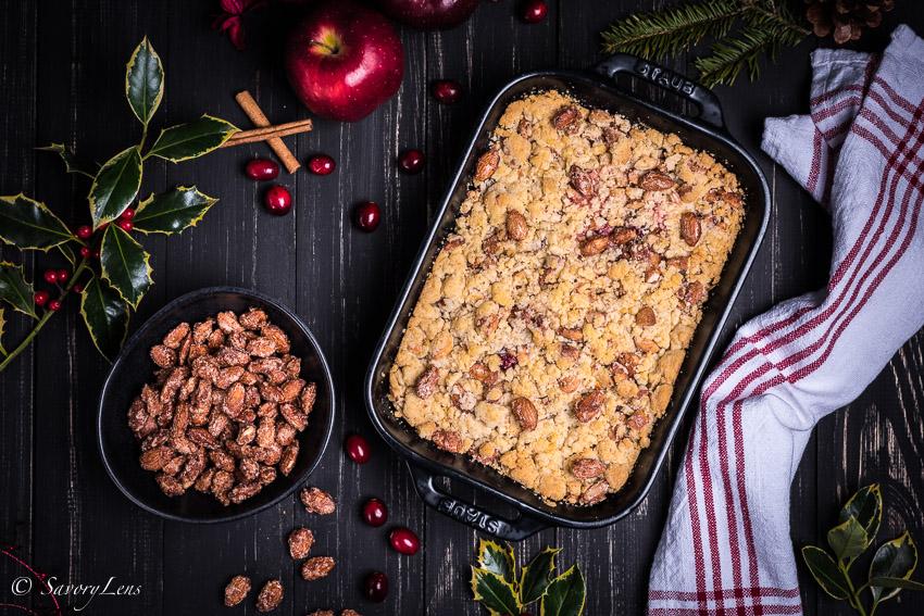 Christmas Crumble mit Gebrannte-Mandeln-Eis