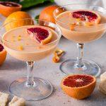 Blood Orange Posset mit Shortbread