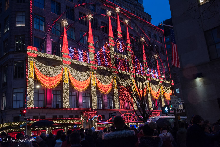 Weihnachten in New York - Saks Fifth Avenue