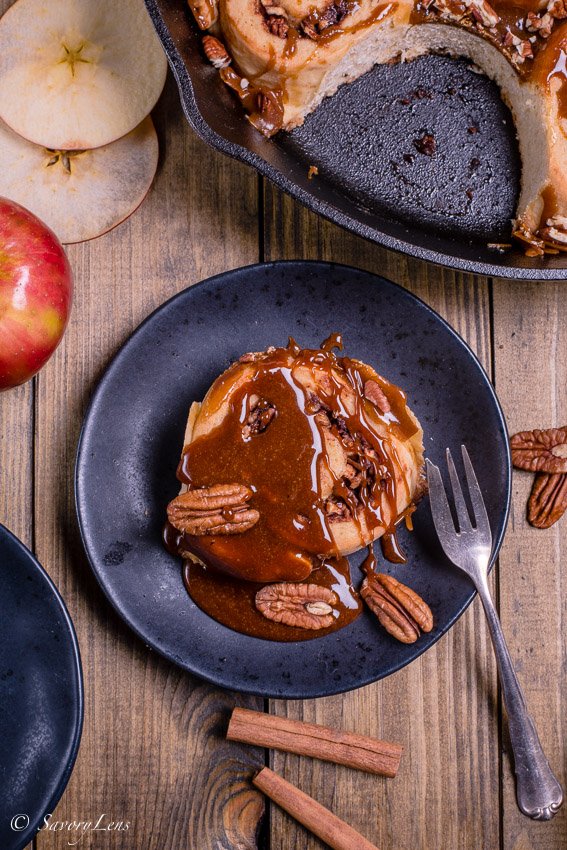 Apple Pecan Caramel Sticky Buns