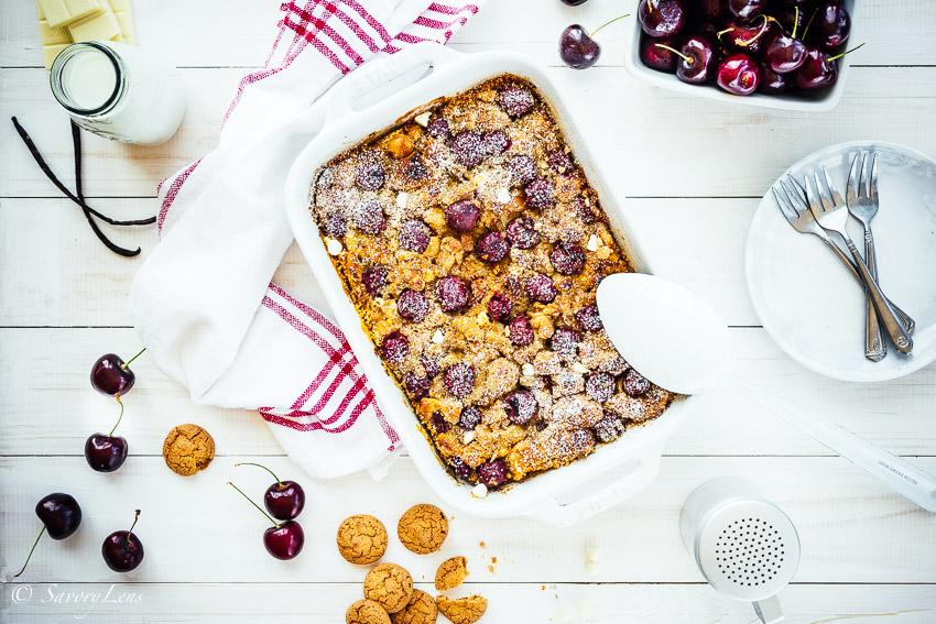 Kirschmichel mit Amaretti und weisser Schokolade – SavoryLens