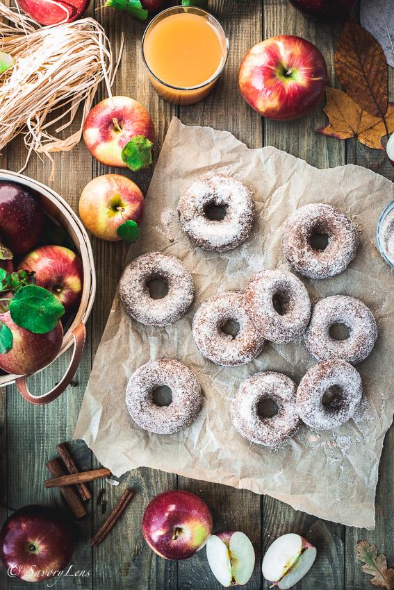 Apple Cider Donuts mit Zimtzucker