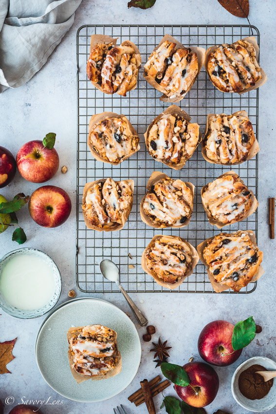 Apfel-Haselnuss-Pull-Apart-Muffins