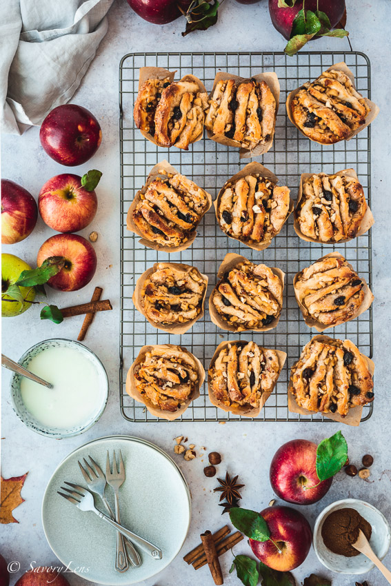 Apfel-Haselnuss-Pull-Apart Muffins