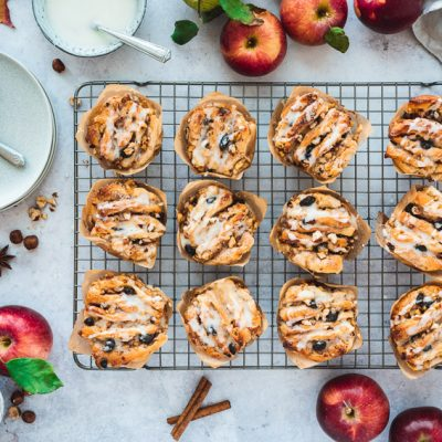 Apfel-Haselnuss-Pull-Apart Muffins