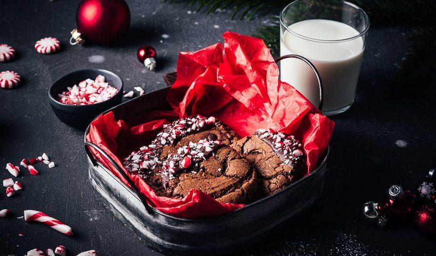 Peppermint Brownie Cookies