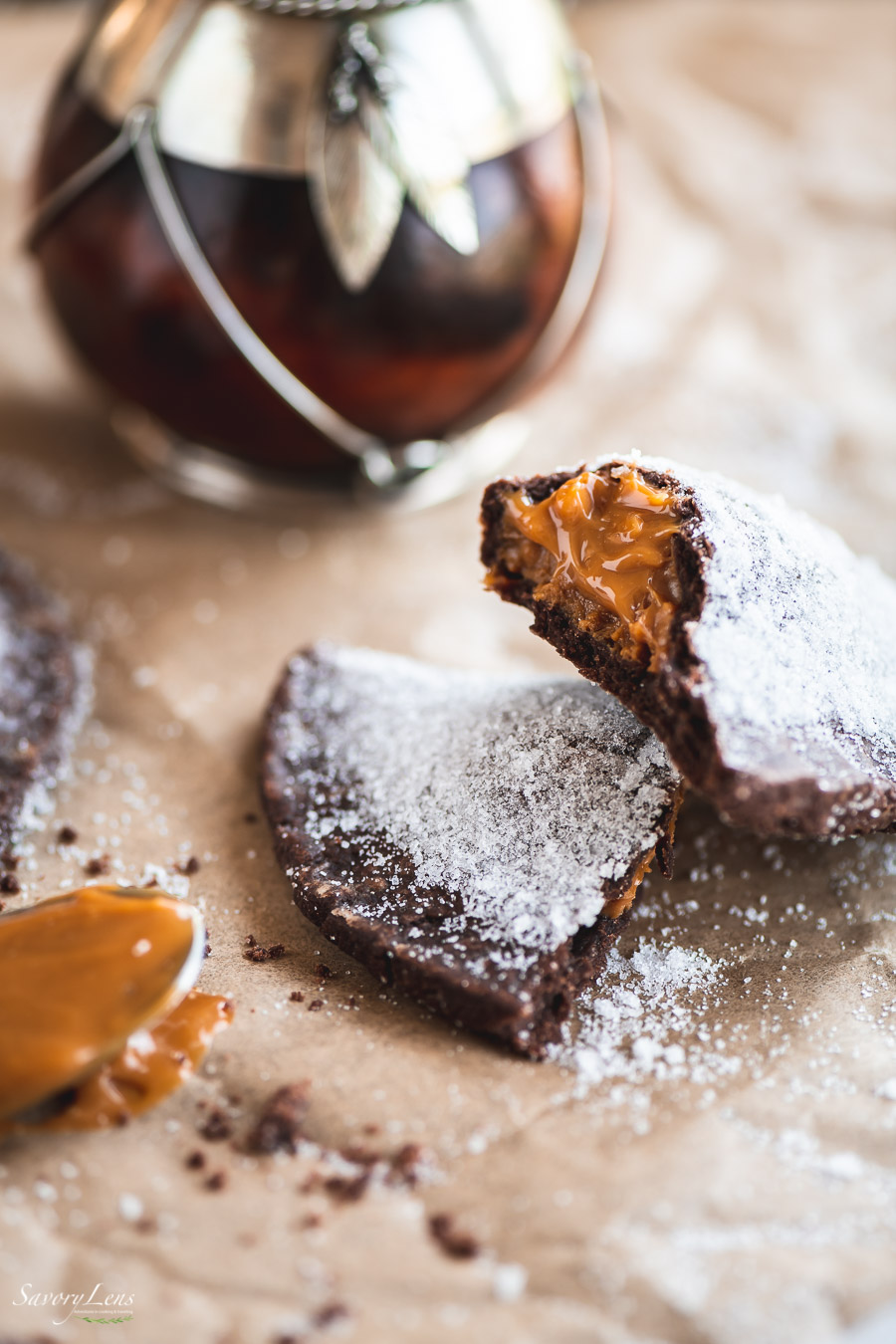 Schokoladen-Empanadas mit Dulce de Leche