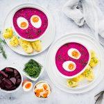 Šaltibarščiai - Kalte Litauische Rote Beete-Suppe