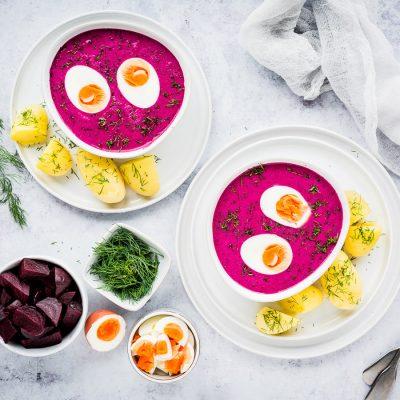 Šaltibarščiai – Kalte Litauische Rote Beete-Suppe