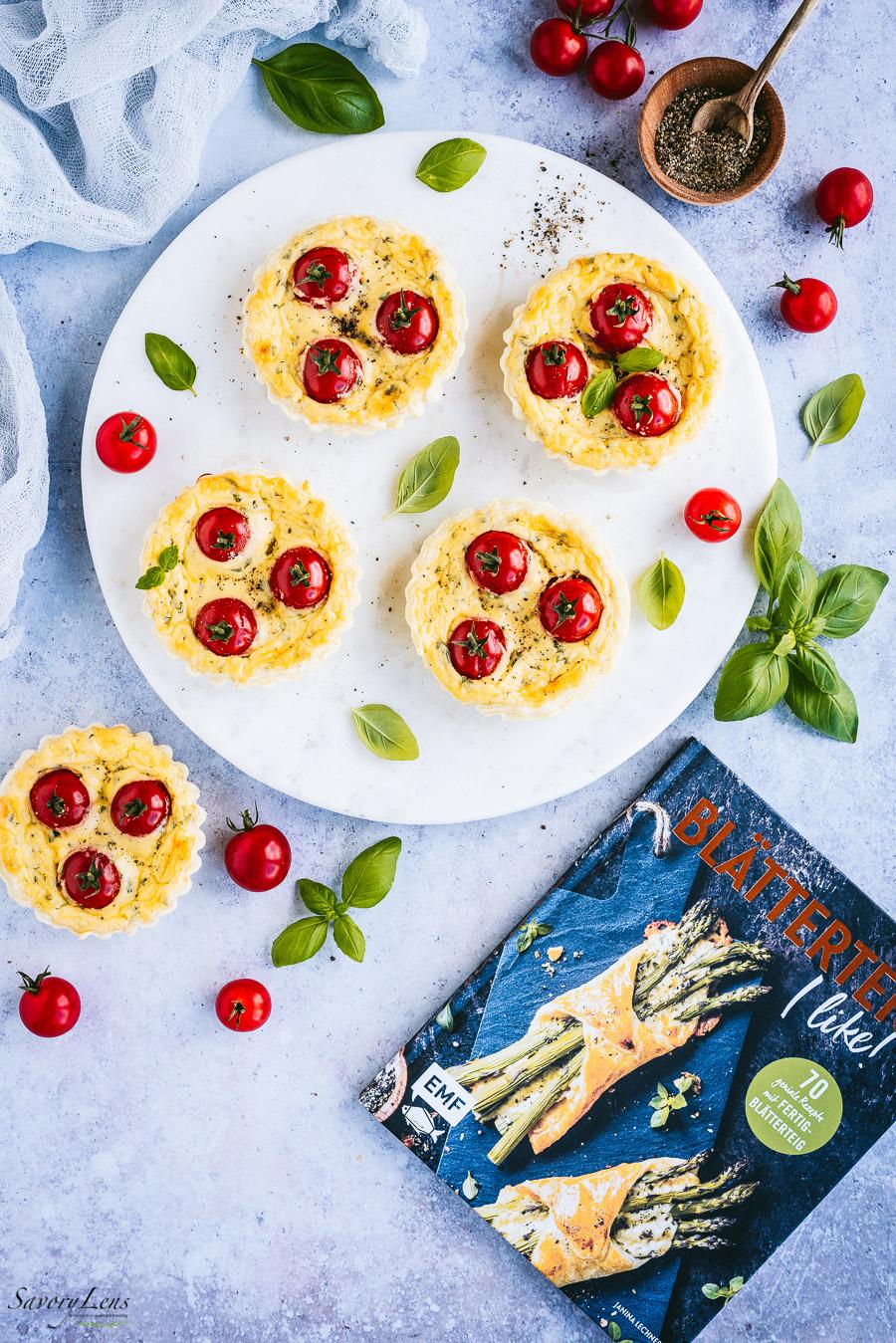 Tomaten Quiches mit Mascarpone-Creme