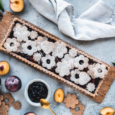 Pflaumenkuchen auf Vollkorn-Zimt-Mürbeteig