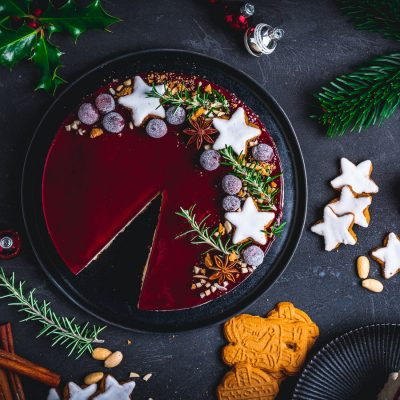Risalamande Cheesecake mit Glühwein-Guss – Food Blogger Adventskalender 2020
