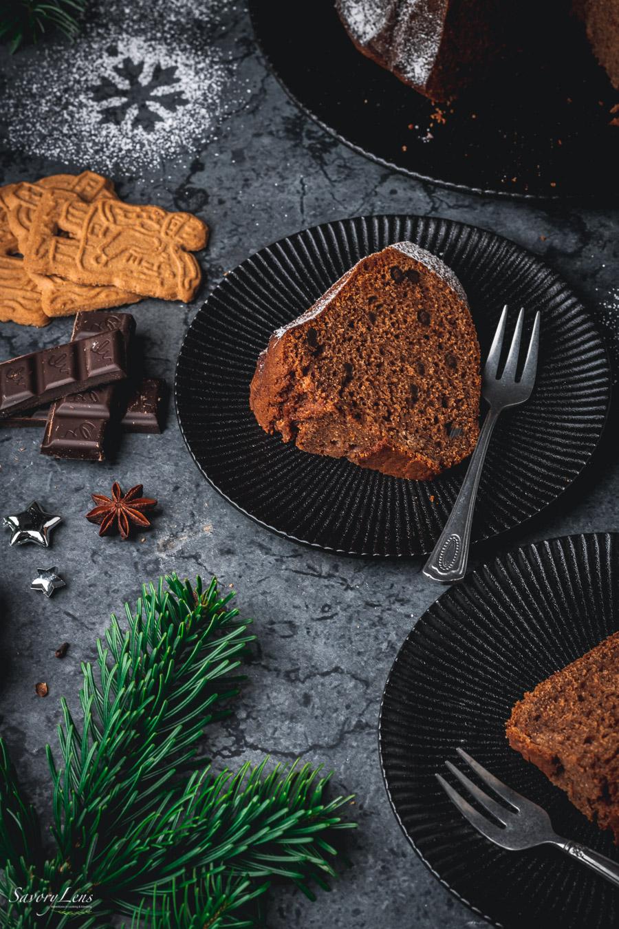 Schokoladen-Spekulatius-Gugelhupf