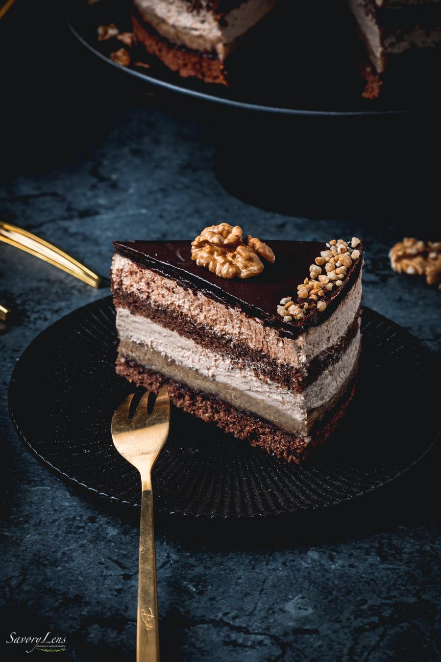 Walnuss-Rum-Torte