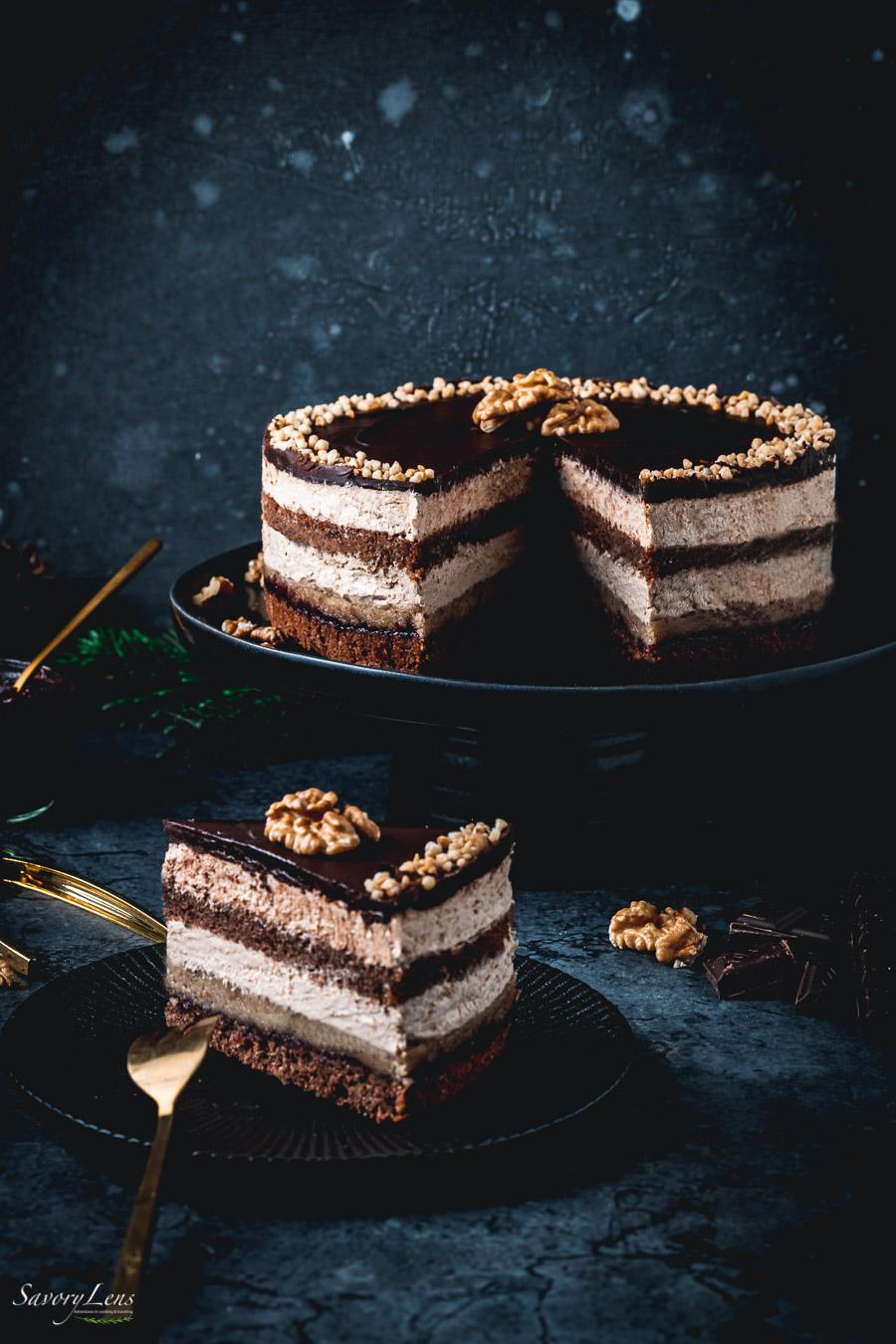 Rum-Walnuss-Torte