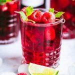 Rotwein-Himbeer-Mojito